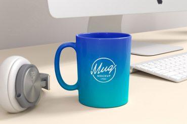 Colored Coffee Mug Mockup