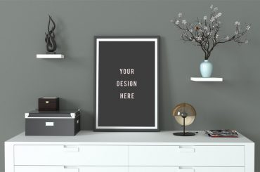 Frame Mockup Grey and Minimal