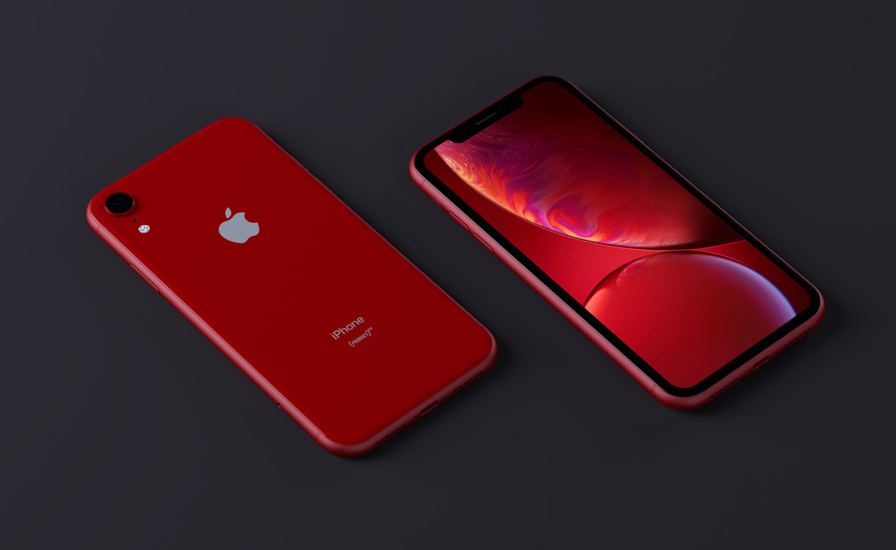 red iphone x mockup