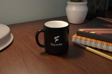 Coffee Mug Mockup on Table