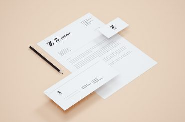 Free Perspective Stationery and Branding Mockup